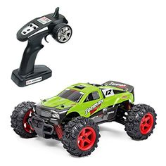 Hobby RC Crawlers - Metakoo RC Car Off Road High Speed 40kmh 124 Scale 50M Remote Control 40mins Playing Time 4WD 24GHz Electric Vehicle with Rechargeable Battery Charger Included  Green -- Click image for more details.