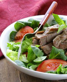 HCG Phase 2 Teriyaki Beef Salad Check the ingredients.
