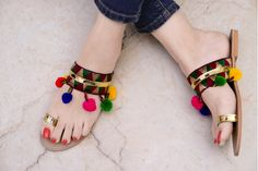 Street Style Store Multicolor Synthetic Leather Chappals  #Chappal #Multicolor #Slip-on