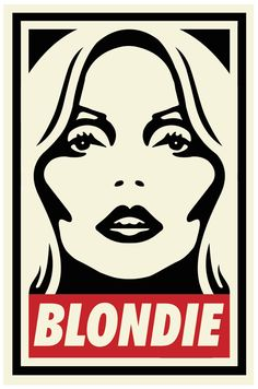 Blondie aka Debbie Harry, by Shepard Fairey, Pop Art Art Obey, Shepard Fairey Art, Blondie Debbie Harry, We Will Rock You, Humor Grafico, Art Graphique, Brainstorm, Grafik Design, Street Artists