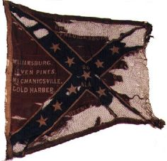 """26th Alabama Infantry. On April 20, 1863, Colonel Edward Asbury O'Neal, 26th Alabama Infantry forwarded the regiment's old battle flag to the Governor of Alabama stating """"The Government having issued to this Regiment a new flag, we respectfully ask that the old one may be deposited in the Archives of the State."""" Their new flag was captured on July 1, 1863 at Gettysburg, PA. This flag was issued to the regiment after the Gettysburg campaign and carried by them for the remainder of the war."""