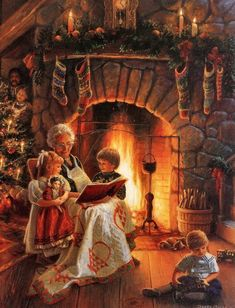 An Old-fashioned Christmas LOVE this pin. Old Time Christmas, Noel Christmas, Victorian Christmas, Vintage Christmas Cards, Country Christmas, Winter Christmas, Xmas, Christmas Shopping, Christmas Christmas