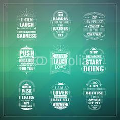 motivational and inspirational quotes set