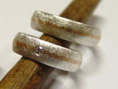 Eheringe in Silber und Gold mit Brillant von Goldschmiede-Dunder auf DaWanda.com
