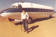 """""""Smokey"""" Roland and his DC-3 camper. I wonder if he has fight attendants."""