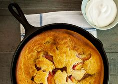 Skillet Peach Cobbler ... Prepared and served in a Lodge Cast Iron Skillet ... USA Made since 1896!