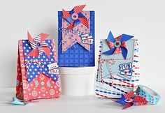 4th July Crafts, Patriotic Crafts, Patriotic Decorations, 4th Of July Party, Fourth Of July, 4th Of July Fireworks, Treat Holder, Treat Bags, Gift Bags
