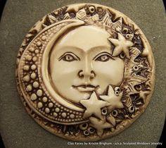 SUN MOON and STARS Celestial Face Cab Cameo by sculptedwindows
