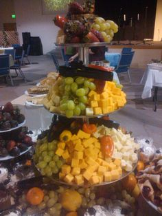 Cheese & Fruit Trays for a bridal shower brunch