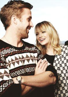 """Emma Stone et Ryan Gosling qu'on a pu voir dans """"Crazy Stupid Love"""" et qu'on retrouve prochainement dans """"Gangster Squad"""""""