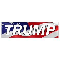 Shop DONALD TRUMP American Flag Bumper Sticker created by mockthevote. Personalize it with photos & text or purchase as is! Trump American, American Flag, John Mcgiver, Jack Donnelly, Softball Tshirts, Merritt Patterson, Joel Grey, Anti Hillary, Trump Flag