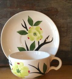 Dixie Dogwood Cup and Saucer by Joni China by putnamandspeedwell