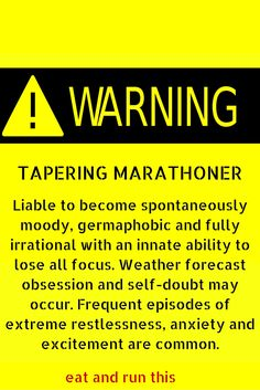 Paris marathon tapering in progress. Stay with me as I plunge through running limbo and imminent madness...