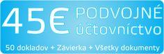 45 Eur Podvojné účtovníctvo s kompletnými službami