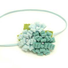 Aqua Felt Flower Headband, Newborn Baby Headband, Freshwater Pearls, Sea Blue Felt Headband for Baby, Mermaid Blue Anemone Flower, Handmade on Etsy, $138.39