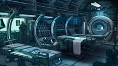 Concept Art World Spaceship Interior, Futuristic Interior, Sci Fi Environment, Environment Design, Storyboard, Blade Runner, Games Design, Laser Tag, Concept Art World