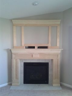 DIY Fireplace Makeover 2019 Execellent photo of architectural interest added to fireplace could add additional moulding according to your tastes. The post DIY Fireplace Makeover 2019 appeared first on Building ideas. Fireplace Update, Home Fireplace, Faux Fireplace, Fireplace Remodel, Fireplace Surrounds, Fireplace Design, Fireplace Ideas, Fireplace Makeovers, Mantle Ideas