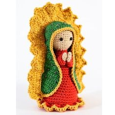 Santinha Guadalupe em amigurumi no Elo7 | Santo Amigurumi (BD18EA) Doll Toys, Dolls, Amigurumi Doll, Christmas Angels, Crochet Toys, Crochet Projects, Tatting, Crochet Patterns, Arms