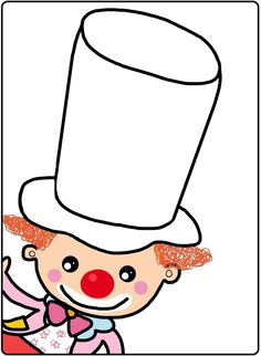 * Verschillende mogelijkheden....laten versieren met knutsel-materialen, vbs oefeningen of de kinderen zelf laten tekenen.... Art Worksheets, Circus Clown, Creative Art, Art For Kids, Coloring Pages, Diy And Crafts, Carnival, Kindergarten, Preschool