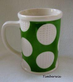 Starbucks Golf Ball Coffee Mug Cup 2006 Golfing Green White Tall M550 Very Nice  $19.96