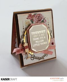 KAISERCRAFT - MADEMOISELLE - SET OF CARDS - KIRSTEN HYDE - MYHYDEAWAY - 6 Friendship Recipe, Shabby Chic Cards, Beautiful Handmade Cards, Easel Cards, Mothers Day Cards, Cards For Friends, Making Ideas, Cardmaking, New Baby Products