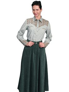 Hunter Green Split Skirt