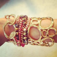 chloeandisabelbymallorie:    My @chloeandisabel arm party makes me happy on this gloomy day (Taken with instagram)