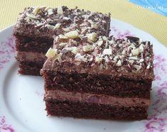 Čokoládovo-višnové rezy - recept | Varecha.sk Apple Recipes, Nutella, Ale, Deserts, Treats, Sweet, Food, Hampers, Bakken