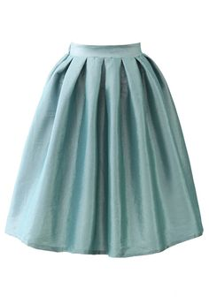 Cobalt Blue A-line Midi Skirt