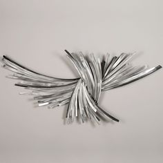 Infinity Silver Metal Wall Sculpture