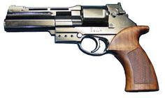 Semi-Auto revolver  Mateba Autorevolver  : The Mateba Model 6 Unica (often known simply as the Mateba or the Mateba Autorevolver) is a recoil operated semi-automatic revolver, one of only a few of this type ever produced. It was developed by Mateba, based in Pavia, Italy.