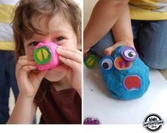 DIY play dough toys - made from old outlet covers