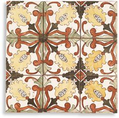 Jeffrey Court hand painted tile - Sintra Pattern Contempo