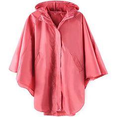 womens pink rain poncho
