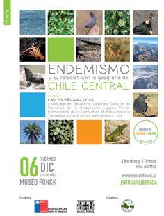VIE 6/12 Endemismo y su relación con la geografía de Chile Central @museofonck