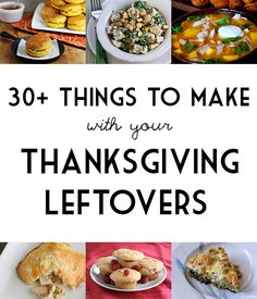 30+ Things To Make With Your Thanksgiving Leftovers - Total Noms www.totalnoms.com #thanksgiving #leftovers