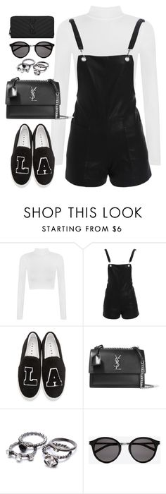 """""""Untitled#4730"""" by fashionnfacts ❤ liked on Polyvore featuring WearAll, Bardot, Joshua's and Yves Saint Laurent"""