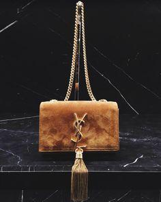 Black Double Micro Baguette Bag | Black Leather, Saint Laurent and ...