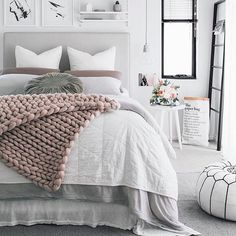How to create an all white bedroom- simple and fresh
