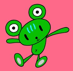 Teddy bear cartoon character - Bear like frog