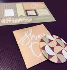 "Birchbox ""Shine On"" Travel Compact Mirror and Gift Tags  