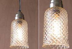 Textured Glass Pendant Light - From Antiquefarmhouse.com - http://www.antiquefarmhouse.com/current-sale-events/industrial5/glass-pendant-light.html