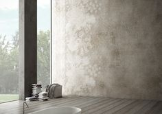 Glamora presents Glam-Tec surfaces and the 2018 wallpaper collection Polished Plaster, Tadelakt, Old Wall, Contemporary Wallpaper, Wall Finishes, Plaster Walls, Creative Walls, Concrete Wall, Wall Treatments