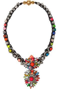 ShouroukCora Zambia Swarovski crystal necklaceHK$7,260