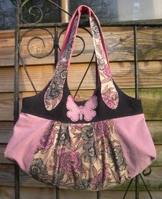 Sherbet Bag (pattern by Melly & Me) in Pink by Karen at Sew-Whats-New