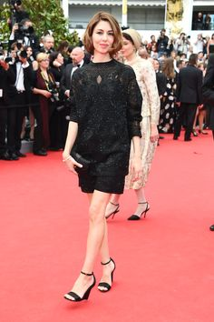 Sofia Coppola in Valentino top and short - 2014 Cannes Film Festival. (May 2014)