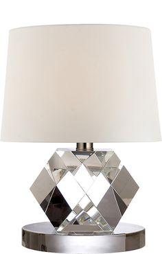 Ralph Lauren Diamond Crystal Accent Lamp Courtesy of InStyle-Decor.com Beverly Hills Inspiring & supporting Hollywood interior design professionals and fans, sharing beautiful luxe home decor inspirations, trending 1st in Hollywood Repin, Share & Enjoy