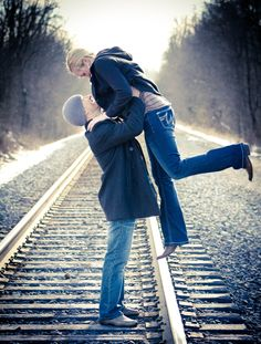 Engagement Session, railroad tracks, #dacphotography https://www.facebook.com/DACPhotography0