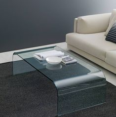 Designed by Pietro Chiesa, it was an extraordinary piece of essentiality and elegance. This coffee table is made from a double curved single piece of thick glass (15 mm). Available in 4 sizes. Single Piece, Table, Coffee, Elegant, Glass, Furniture, Design, Home Decor, Kaffee