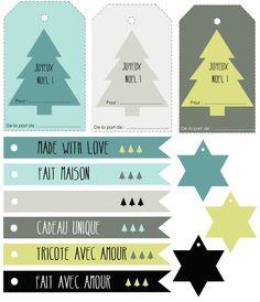 ♥ Étiquettes pour cadeaux home made: